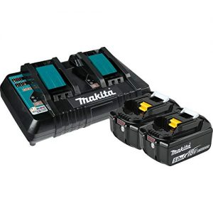Makita 5.0 Ah 18V LXT Lithium-Ion Battery and Dual Port Charger Starter Pack