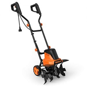 TACKLIFE Classical Version Electric Tiller, Cultivator, 12A Electric Power