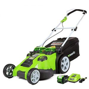 Greenworks 20-Inch 40V Twin Force Cordless Lawn Mower, 5.0 AH Battery