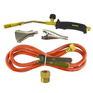 Gas Torch Burner 2m Hose Regulator Roofer Plumber Weed Kit Propane