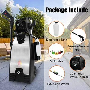 EDOU 3200 Max PSI 2.0 GPM Electric Pressure Washer,Including Power Washer Gun