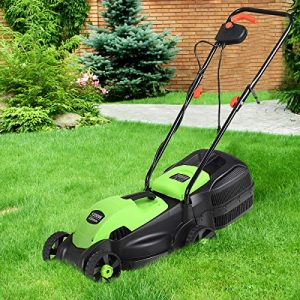 HAPPYGRILL 14-Inch 12 Amp Electric Lawn Mower, Handle Push Corded