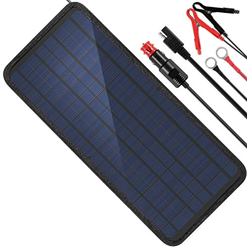 MOOLSUN 12 Volt 12v Solar Battery Charger, 10W Solar Car Battery Charger
