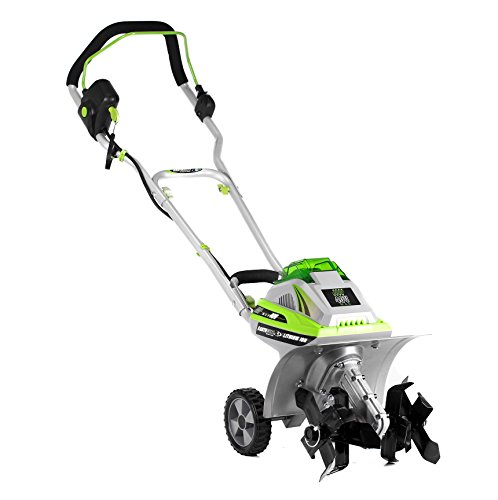 Earthwise TC70040 11-Inch 40-Volt Lithium-Ion Cordless Electric Tiller/Cultivator, 4Ah Battery & Charger Included