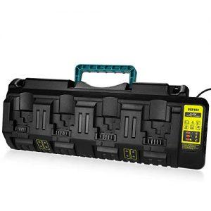 Energup Replacement Charger for Dewalt 12V/Dewalt 20V Max 4-Port