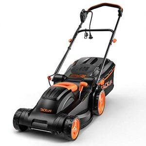 TACKLIFE, 14-Inch Electric Lawn Mower 10A, 6 Adjustable Mower Heights