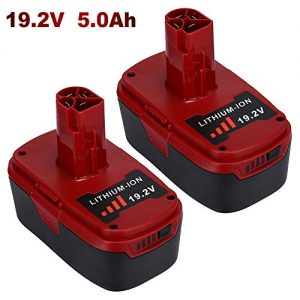 2 Pack 5.0Ah 19.2V Lithium-ion Replacement for Craftsman 19.2 Volt DieHard Battery