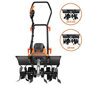 TACKLIFE Electric Tiller, 13.5 Amp Tiller Cultivator, Removable Blade