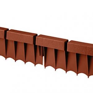 Suncast Interlocking No Dig Border Edging - Brick - Resin Construction for Garden