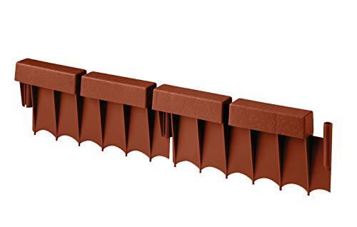 Suncast Interlocking No Dig Border Edging - Brick - Resin Construction for Garden