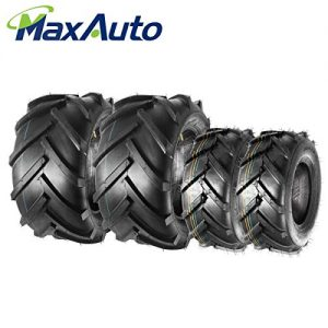 MaxAuto Lawn Mower Tires 16X6.50-8 Front & 23X10.50-12 Rear