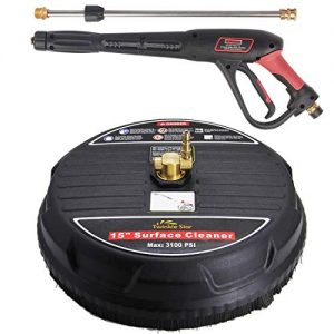 """Twinkle Star 15"""" Pressure Washer Surface Cleaner with Pressure Washer Trigger Gun"""
