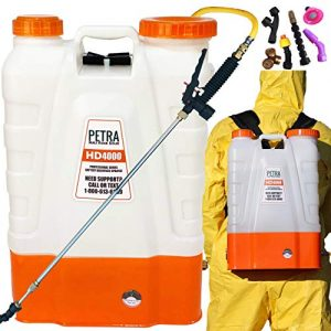 Petra 4 Gallon Battery Powered Backpack Sprayer - Extended Spray Time Long-Life