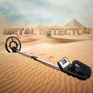 "Goplus Waterproof Metal Detector, 7.5"" Sensitive Metal Finder Search Outdoor"