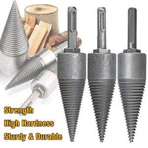 YWNYT Firewood Log Splitter Drill, Wood Splitter Drill Bits,Heavy Duty Drill Screw