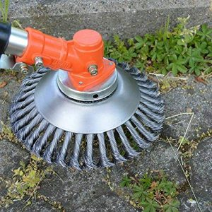 BGTOOL 6 inch Rotary Weed Brush Joint Twist Knot Steel Wire Wheel Brush Disc