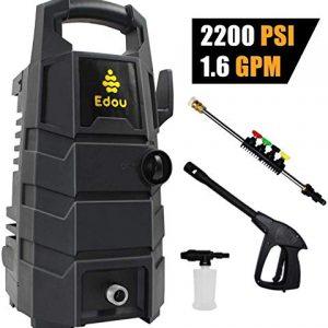 EDOU 2200 Max PSI 1.6 GPM Electric Pressure Washer,Including Power Washer Gun