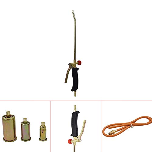Autoparts New Portable Propane Weed Torch Burner Fire Starter Ice Melter Melting w/Nozzles