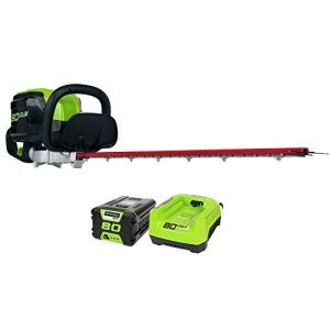 Greenworks PRO 26-Inch 80V Cordless Hedge Trimmer, 2.0 AH Battery Included