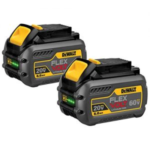 DEWALT 20V MAX 6.0Ah Lithium Ion Premium Battery, 2 Pack