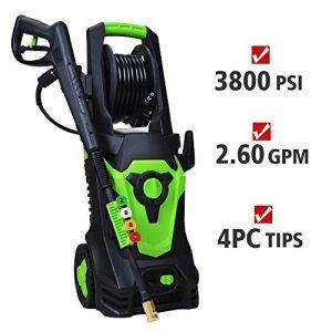 PowRyte 3800PSI 2.6GPM Pressure Washer Machine with Copper Garden Adaptor