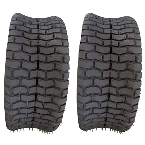 Autoforever Pack of 2 16X6.50-8 Turf Tires 4 Ply Tubeless Fit for Garden Tractor