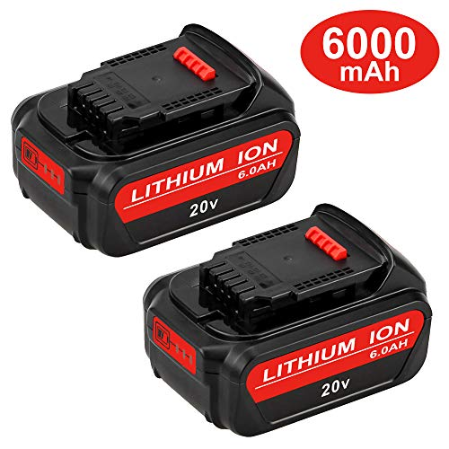 6.0Ah Replacement for Dewalt 20V Battery Max XR Lithium