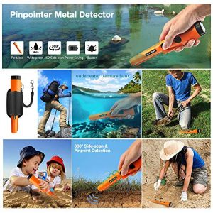 MOSUNECE Waterproof Metal Detector Pinpointers Include a 9V Battery