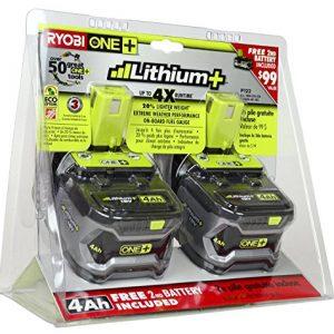 Ryobi 18-Volt ONE+ Lithium-Ion 4.0 Ah High Capacity Battery