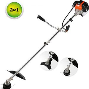 momiloeUS 42.7cc Weed Eater Gas Straight Shaft String Trimmer/Brush Cutter
