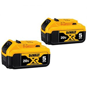 DEWALT 20V MAX XR 20V Battery, 5.0-Ah, 2-Pack