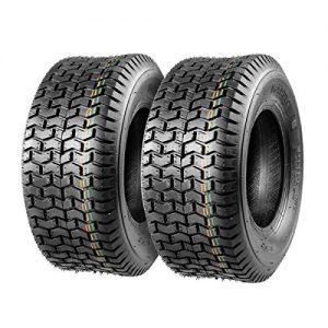 Set of 2 16x6.50-8 16/6.50-8 16-6.50-8 16x650x8 Turf Tires 4Ply Tubeless