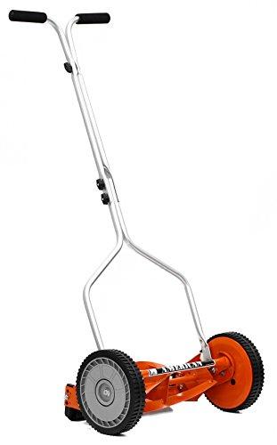 American Lawn Mower Company 14-Inch 4-Blade Push Reel Lawn Mower, Red