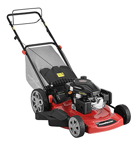 PowerSmart Lawn Mower, Black and red