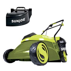 Sun Joe 14-Inch 28-Volt Cordless Push Lawn Mower, w/Rear Discharge Chute