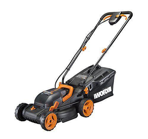 "WORX 40V Power Share 4.0 Ah 14"" Lawn Mower w/ Mulching &"