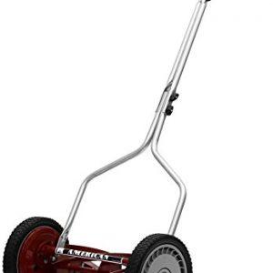 American Lawn Mower Company 14-Inch 5-Blade Push Reel Lawn Mower, Red