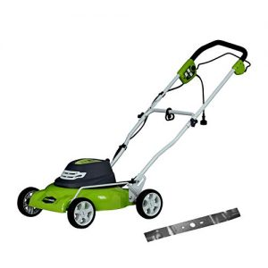 Greenworks 18-Inch 12 Amp Corded Electric Lawn Mower with Extra Blade