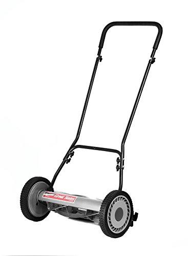 Great States 18-Inch 5-Blade Push Reel Lawn Mower, Grey