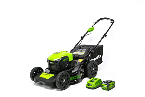 GreenWorks G-MAX 40V 20-Inch Cordless 3-in-1 Lawn Mower with Smart Cut