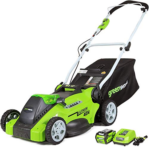 Greenworks 16-Inch 40V Cordless Lawn Mower, 4.0 AH Battery Included