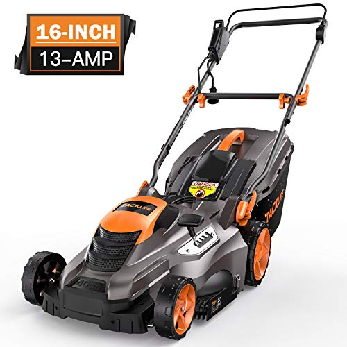 TACKLIFE Lawn Mower, 16-Inch 13-Amp Electric Lawn Mower