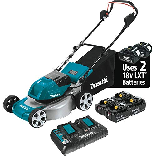 "Makita 18V X2 (36V) LXT Lithium‑Ion Brushless Cordless (5.0Ah) 18"" Lawn Mower Kit"