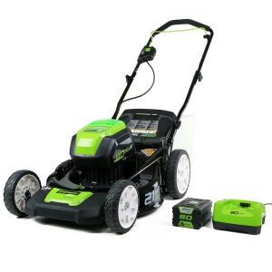 Greenworks PRO 21-Inch 80V Cordless Lawn Mower, 4Ah Battery and Charger