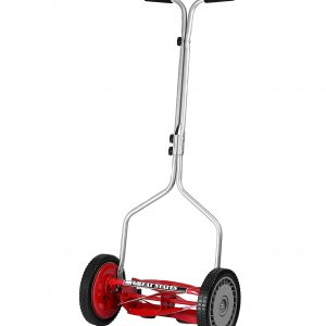 Great States 14-Inch 5-Blade Push Reel Lawn Mower, Red