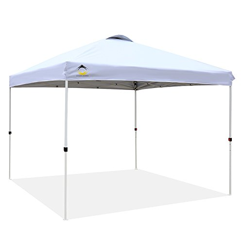 CROWN SHADES Patented 10ft x 10ft Outdoor Pop up Portable Shade Instant Folding Canopy with Carry Bag, White