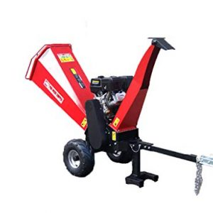 15HP Gasoline Powered Wood Chipper Mulcher, with Electric Start