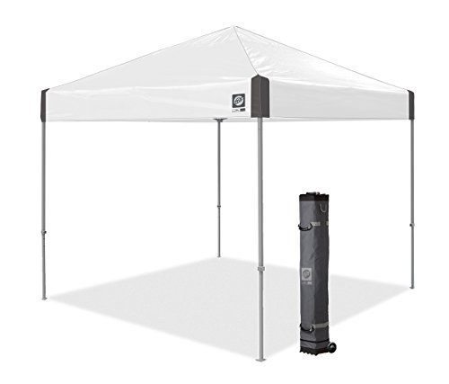 E-Z UP Ambassador Instant Shelter Canopy, 10 by 10', White Slate