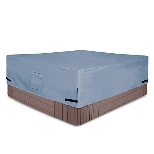 Yolaka Veranda Square Hot Tub Cover Cap with Air Vents 76x76 Waterproof