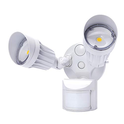 JJC LED Security Lights Motion Sensor Flood Light Outdoor,20W(120W Equiv.)2000LM,IP65 Waterproof,5000K Daylight White DLC & ETL Listed Outdoor Lighting White